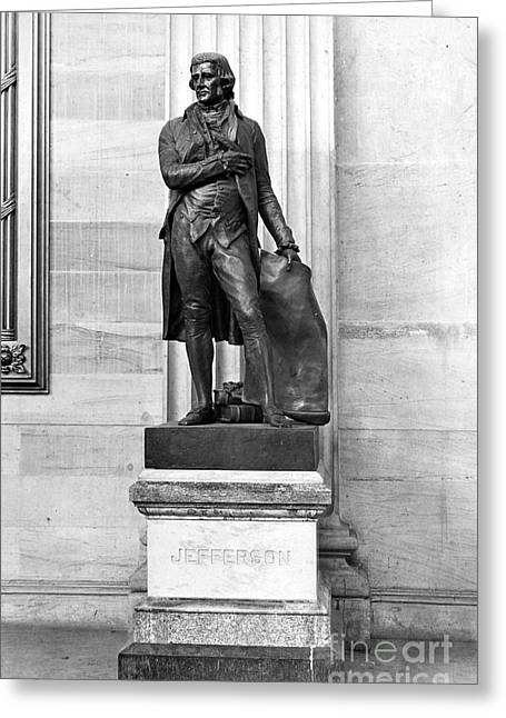 Statue Portrait Photographs Greeting Cards - Thomas Jefferson (1743-1826) Greeting Card by Granger