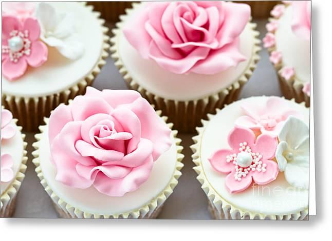 Wedding Cupcakes Greeting Card by Ruth Black