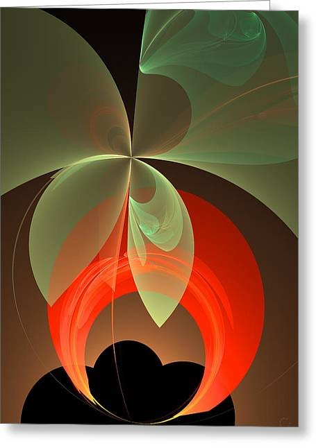 Generative Abstract Greeting Cards - 331 Greeting Card by Lar Matre