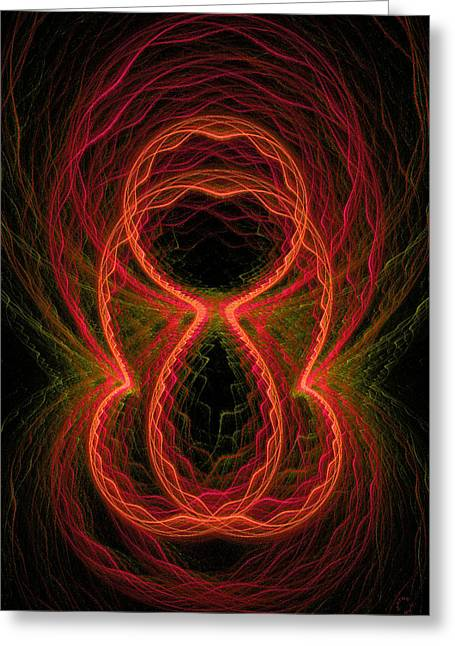 Generative Abstract Greeting Cards - 333 Greeting Card by Lar Matre
