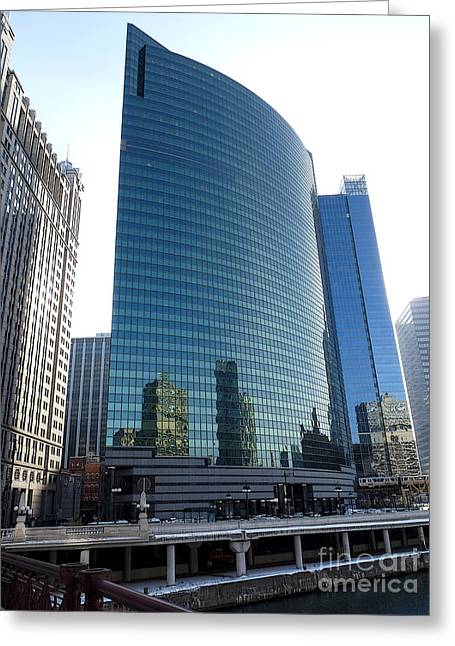 333 Greeting Cards - 333 Wacker Drive perspective Greeting Card by David Bearden