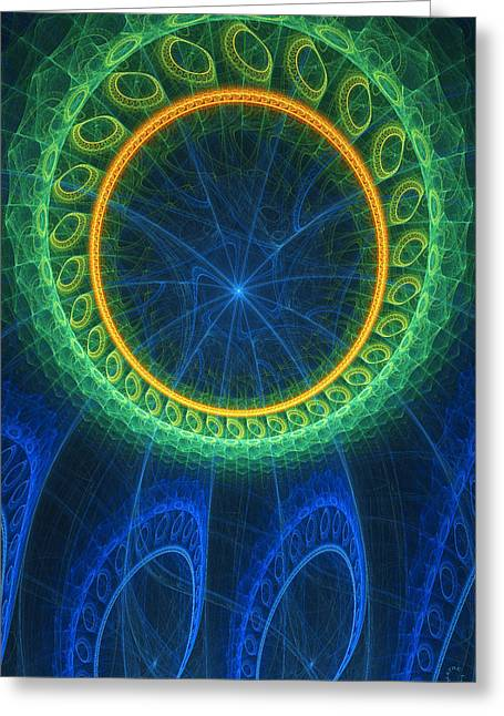 Generative Abstract Greeting Cards - 339 Greeting Card by Lar Matre