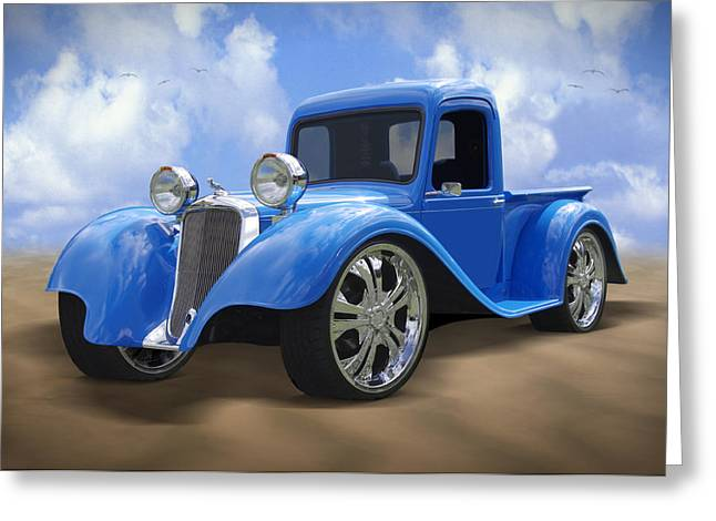Chrome Greeting Cards - 34 Dodge Pickup Greeting Card by Mike McGlothlen