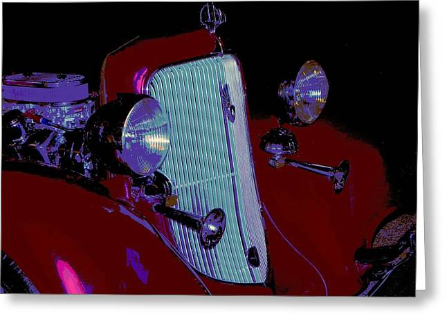 Tricked-out Cars Greeting Cards - 34 Plymouth PE Greeting Card by Chuck Re