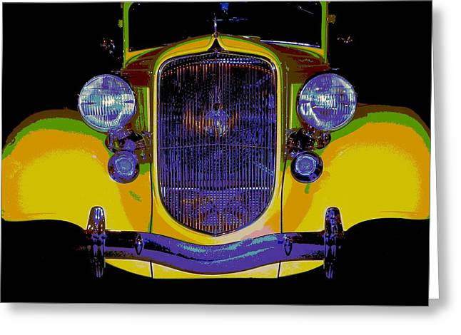 Tricked-out Cars Greeting Cards - 34 Plymouth PEXX Greeting Card by Chuck Re