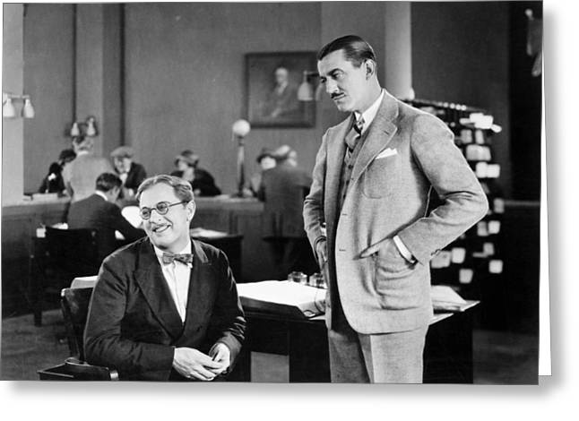 Employer Greeting Cards - Silent Film Still: Offices Greeting Card by Granger