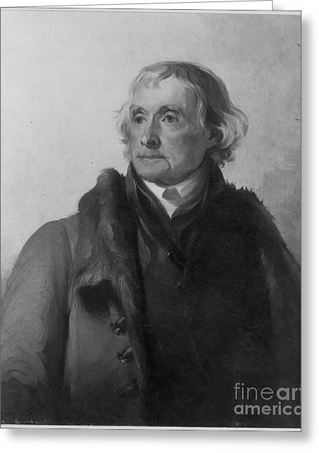 Sully Greeting Cards - Thomas Jefferson (1743-1826) Greeting Card by Granger