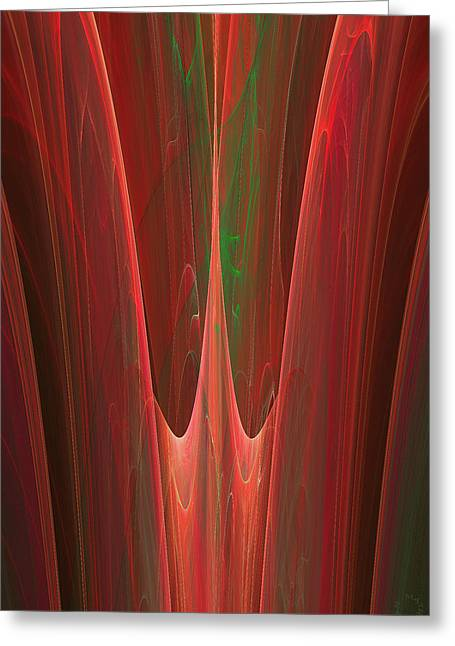 Generative Abstract Greeting Cards - 348 Greeting Card by Lar Matre