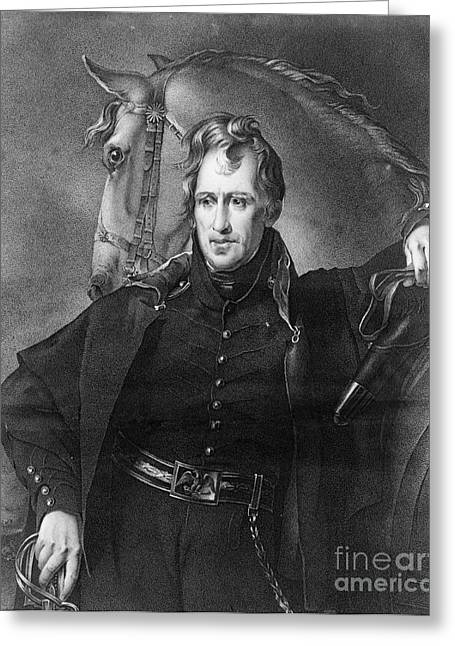 Andrew Jackson (1767-1845) Greeting Card by Granger