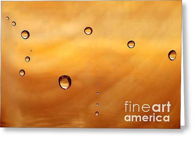 Ocean Art Photography Greeting Cards - Drops Greeting Card by Odon Czintos