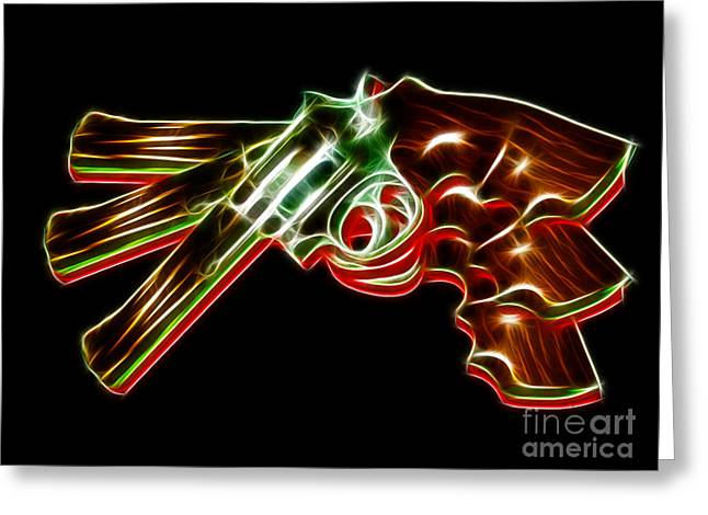 Lethal Greeting Cards - 357 Magnum - Electric Greeting Card by Wingsdomain Art and Photography