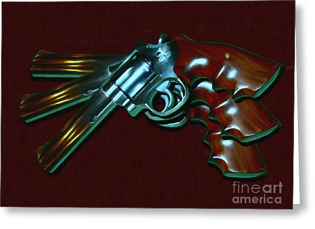 357 Greeting Cards - 357 Magnum - Painterly Greeting Card by Wingsdomain Art and Photography