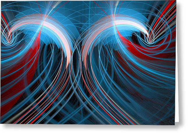 Generative Abstract Greeting Cards - 359 Greeting Card by Lar Matre