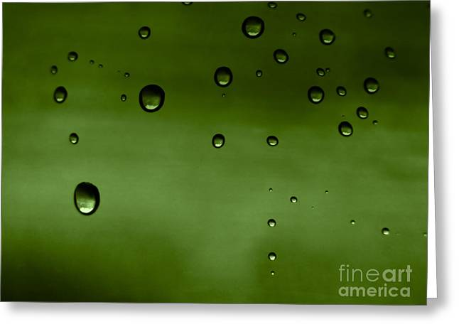 Sweating Greeting Cards - Drops Greeting Card by Odon Czintos