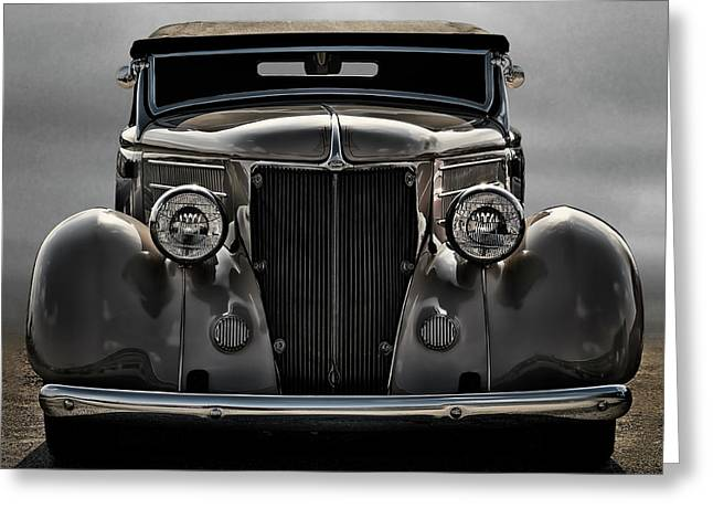 Custom Ford Greeting Cards - 36 Ford Convertible Coupe Greeting Card by Douglas Pittman