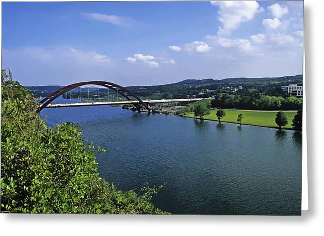 Austin 360 Bridge Greeting Cards - 360 Bridge Greeting Card by Stephen Anderson