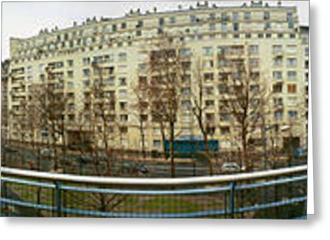 Large Scale Greeting Cards - 360 Panoramic Photograph of Paris Greeting Card by Jeff Schomay