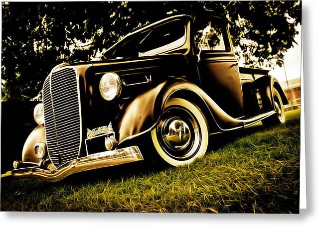 Aotearoa Greeting Cards - 37 Ford Pickup Greeting Card by Phil