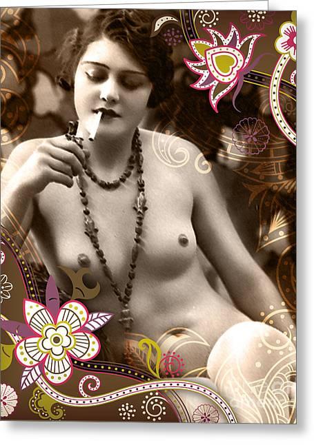 Abstract Digital Mixed Media Greeting Cards - Goddess Greeting Card by Chris Andruskiewicz