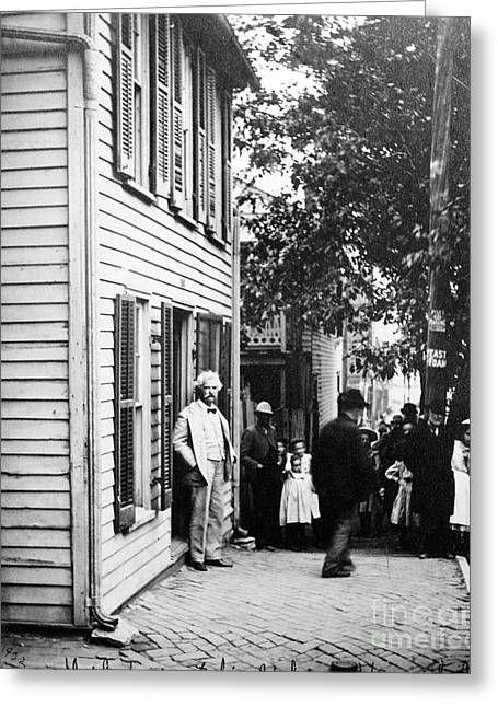 Clapboard House Greeting Cards - Samuel Langhorne Clemens Greeting Card by Granger