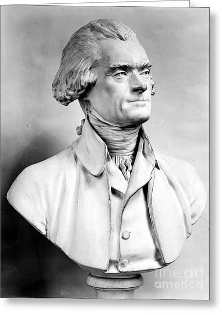 18th Century Greeting Cards - Thomas Jefferson (1743-1826) Greeting Card by Granger