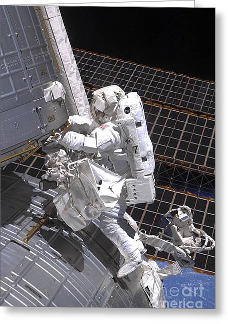 Hardware Greeting Cards - Astronaut Participates Greeting Card by Stocktrek Images