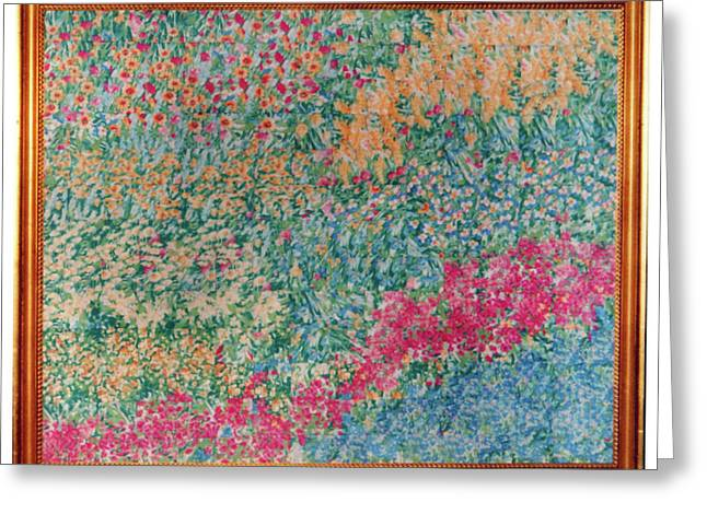 Large Flowers Tapestries - Textiles Greeting Cards - 38 Greeting Card by Mildred Thibodeaux
