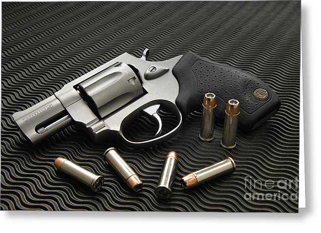 Conceal Greeting Cards - .38 Special - D008149 Greeting Card by Daniel Dempster