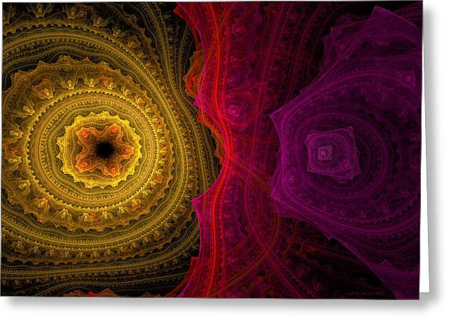 Generative Abstract Greeting Cards - 382 Greeting Card by Lar Matre