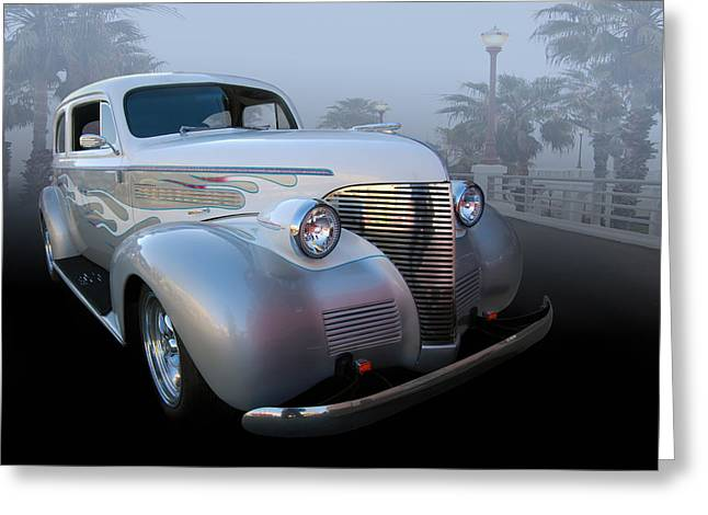 Chev Deluxe Auto Greeting Cards - 39 Chev Deluxe Greeting Card by Bill Dutting