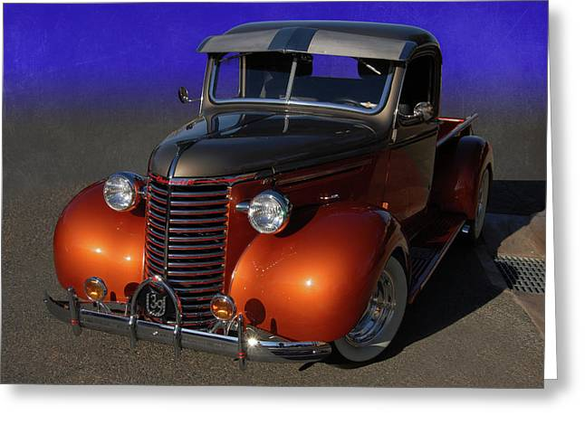 Slammer Greeting Cards - 39 Chevy Pickup Greeting Card by Bill Dutting