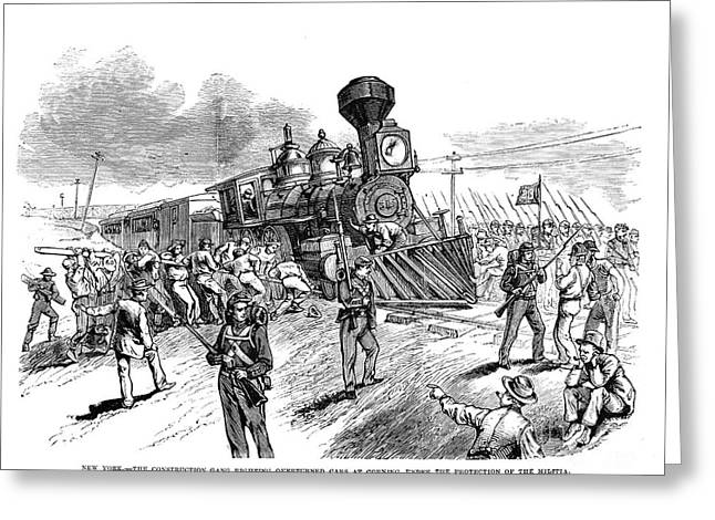 Great Railroad Strike, 1877 Greeting Card by Granger