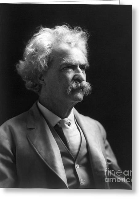 1907 Greeting Cards - Samuel Langhorne Clemens Greeting Card by Granger