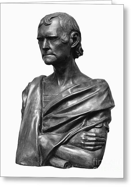 Portrait Sculpture Photograph Greeting Cards - Thomas Jefferson (1743-1826) Greeting Card by Granger