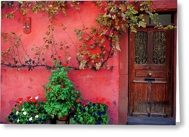 France Doors Digital Art Greeting Cards - 39 Wissembourg Greeting Card by John Galbo