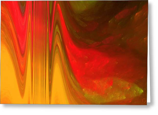 Generative Abstract Greeting Cards - 397 Greeting Card by Lar Matre