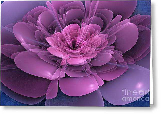 Artwork Flowers Greeting Cards - 3D Flower Greeting Card by John Edwards