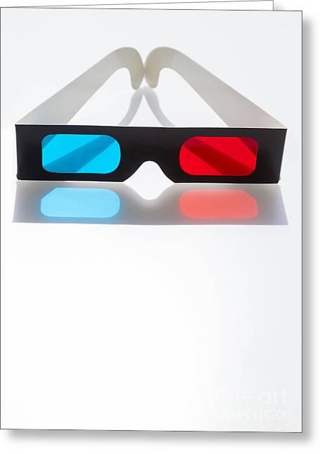 3-d Glasses Greeting Cards - 3d Greeting Card by Juan  Silva
