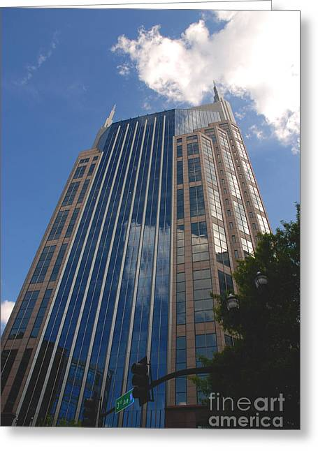 Glass Facade Greeting Cards - 3th Avenue Nashville Greeting Card by Susanne Van Hulst