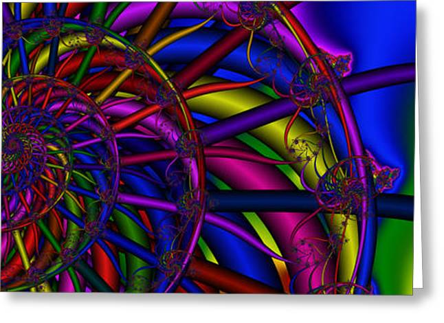 Spokes Greeting Cards - 3X1 Abstract 912 Greeting Card by Rolf Bertram