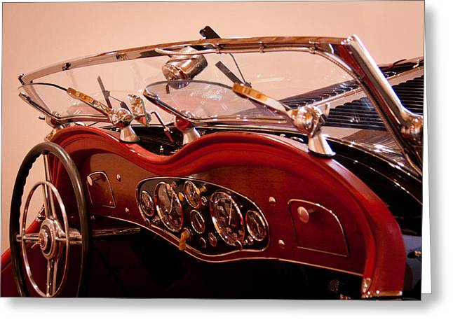 Dash-board Greeting Cards - 1933 Mercedes-Benz 380 SS Roadster Erdmann and Rossi Greeting Card by David Patterson