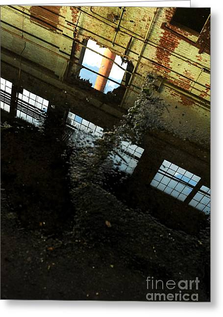 Abandoned Mill Greeting Cards - Abandoned Factory Greeting Card by HD Connelly