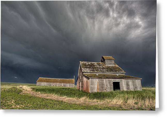Shed Digital Art Greeting Cards - Abandoned Farm Greeting Card by Mark Duffy
