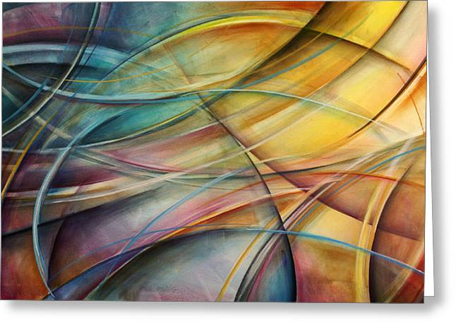 Random Shape Greeting Cards - Abstract  Greeting Card by Michael Lang