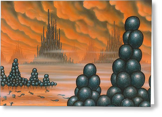Helium Greeting Cards - Alien Life Forms, Artwork Greeting Card by Richard Bizley