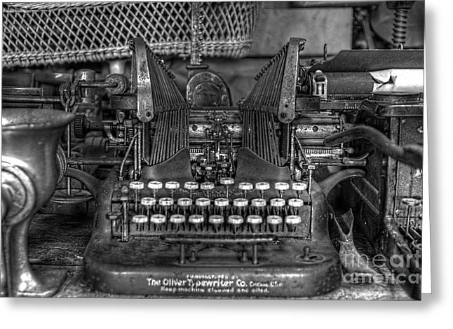 Oliver Typewriter Co. Oliver Typewriter Greeting Cards - Americana Greeting Card by Keith Tademy