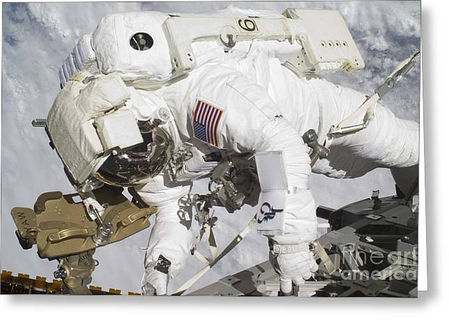 An Astronaut Participates In A Session Greeting Card by Stocktrek Images