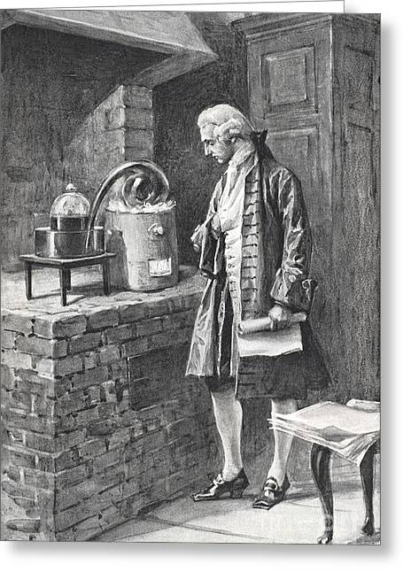 Material Composition Greeting Cards - Antoine-laurent Lavoisier, French Greeting Card by Science Source