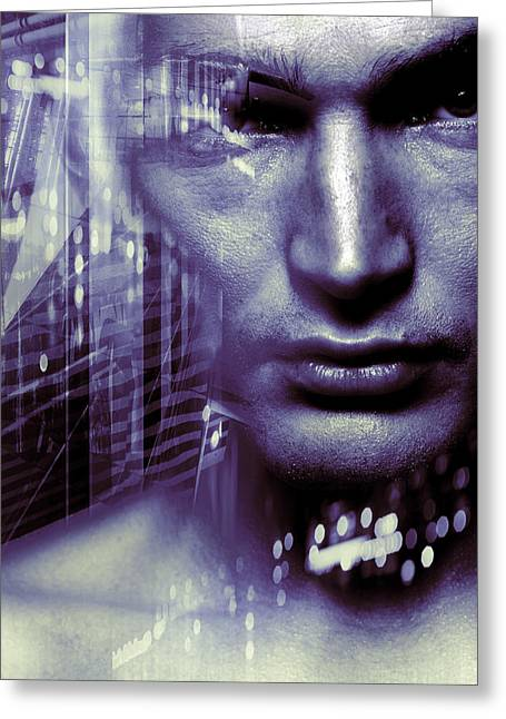 Merging Greeting Cards - Artificial Intelligence Greeting Card by Coneyl Jay