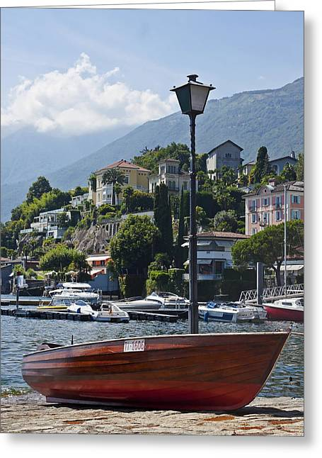 Italian Restaurant Greeting Cards - Ascona - Ticino Greeting Card by Joana Kruse